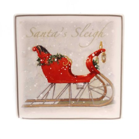 Tabletop CHRISTMAS ICONS SNACK PLATES Ceramic Darren Gygi 2020180159 Sleigh