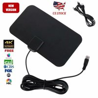 HDTV Antenna,Indoor Amplified HD Digital TV Antenna up to 100+ Miles Range with 2020 New Amplifier Signal Booster Free Local Channels 4K HD 1080P VHF UHF All TV's - 16.5ft Coaxial Cable