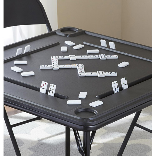 Gentil Mainstays Folding Game Table, Black   Walmart.com