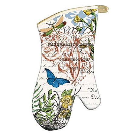 - Padded Cotton Oven Mitt, Avocado, Padded oven mitt with quilted inside By Michel Design Works