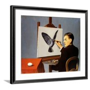 La Clairvoyance Framed Art Print Wall Art  By Rene Magritte - 29x25.5