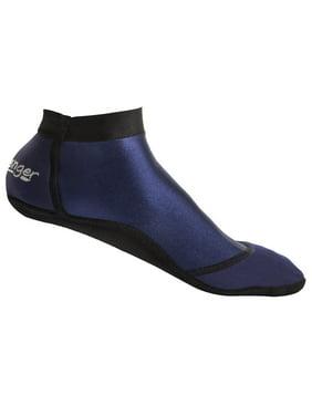 Seavenger SeaSnugs | Low Beach Socks for Sand Volleyball, Soccer, Snorkeling & Watersports (Dark Blue, Large)