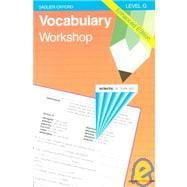 Vocabulary Workshop: Level G Enhanced Edition
