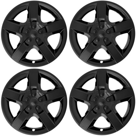 Chevy Wheel Covers (Cover Trend (Set of 4), BLACK (ONLY FITS 17