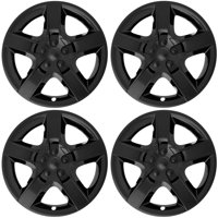 """Cover Trend (Set of 4), BLACK (ONLY FITS 17"""" inch wheels that take Hubcaps) fits CHEVY MALIBU - 5 Spoke Aftermarket Chevrolet Wheel Covers Hub caps"""