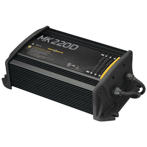 Johnson MinnKota MK 220D On-Board Battery Charger (2 Banks, 10 Amps Per Bank)