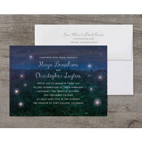 Firefly Fields Deluxe Wedding Invitation