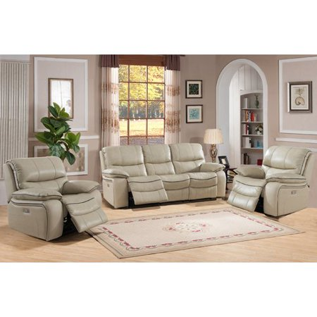 Red Barrel Studio Deshaun Reclining 3 Piece Leather Living Room Set ...