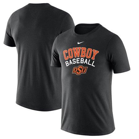 Oklahoma State Cowboys Nike Baseball Script Logo T-Shirt - Black ()