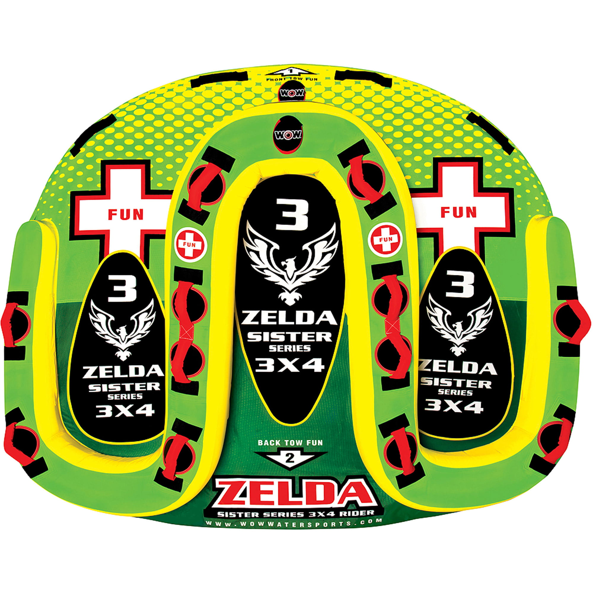 WOW Zelda Sister Series 3-Rider Towable by World of Watersports