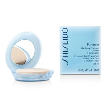 Pureness Matifying Compact Oil Free Foundation SPF15 (Case + Refill) - # 30 Natural Ivory - Beige Shiseido Pureness Matifying Compact