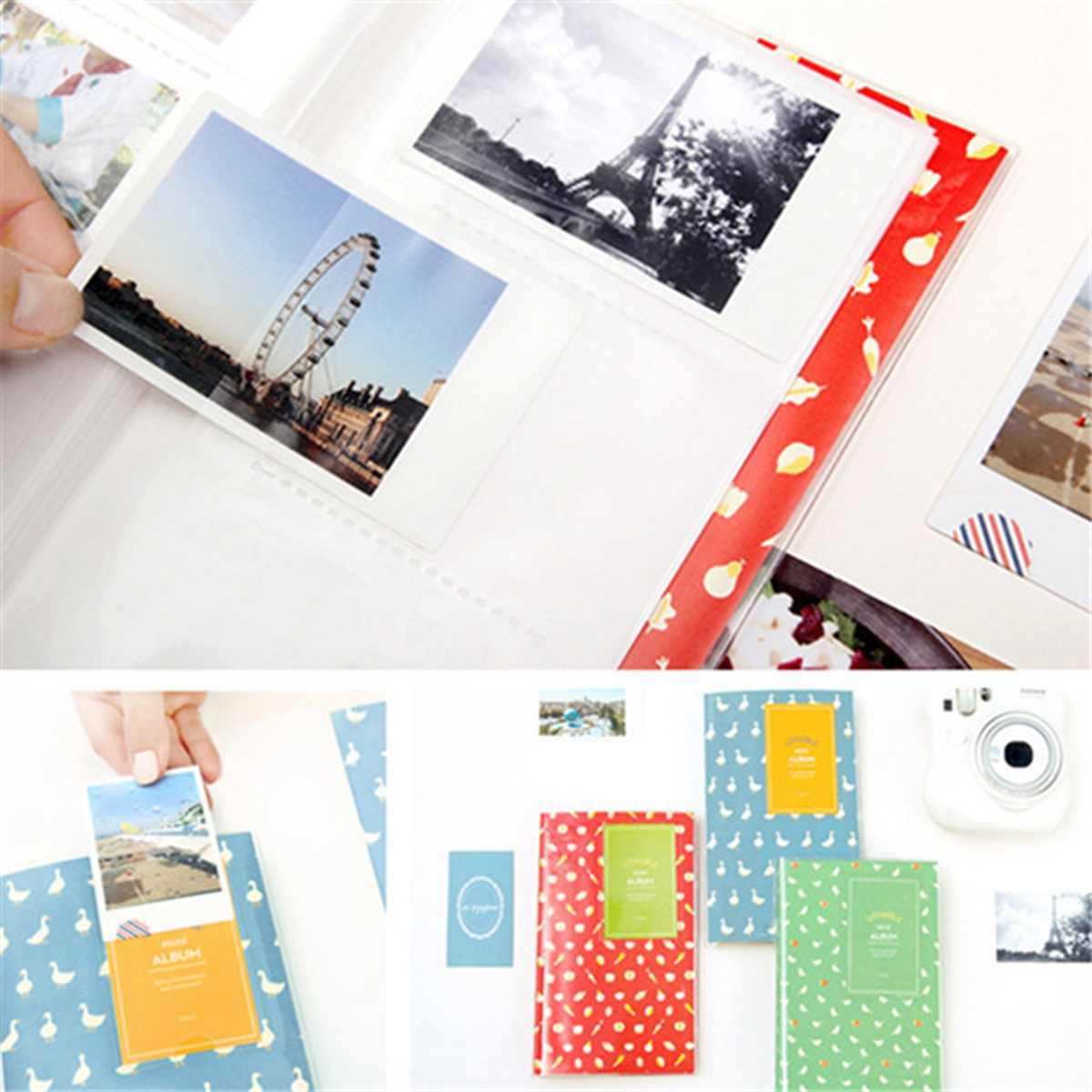 Cute Multi-Color 84 Films Fit Photo Mini Album for Polaroid and Fujifilm Instax