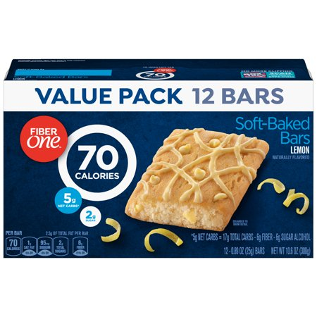 Fiber One 70 Calorie Soft-Baked Bar Lemon Bar 12 Fiber Bars 10.6 oz