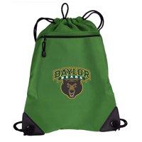 Baylor Drawstring Bag TWO SECTION Baylor University Cinch Backpack Pack - Unique Mesh & Microfiber Sections