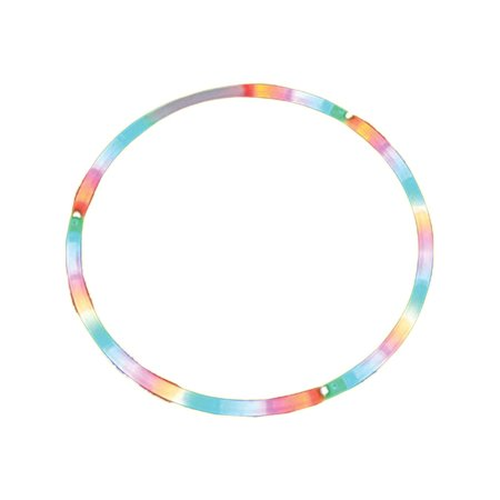 - 28 Inch LED Lighted Twist Hula Cosmic Glow Hoola Hoop