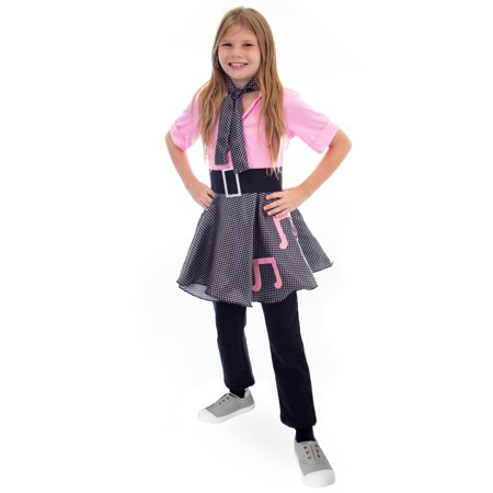 Boo! Inc. 50s Sock Hop Halloween Costume| Poodle Skirt Outfit (50s Poodle Skirts Costumes)
