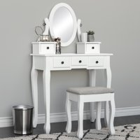 0a840ac23b5 Product Image Best Choice Products Bedroom Vanity Hair Dressing Table Set  for Makeup