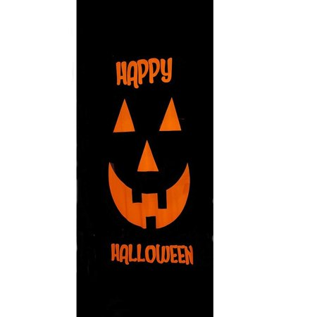 Happy Halloween Theme Spooky pumpkin Double-Sided Decorative Stretchable Door Cover Indoor Outdoor 82
