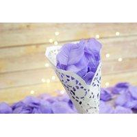Quasimoon Lavender Silk Rose Petals Confetti for Weddings in Bulk by PaperLanternStore