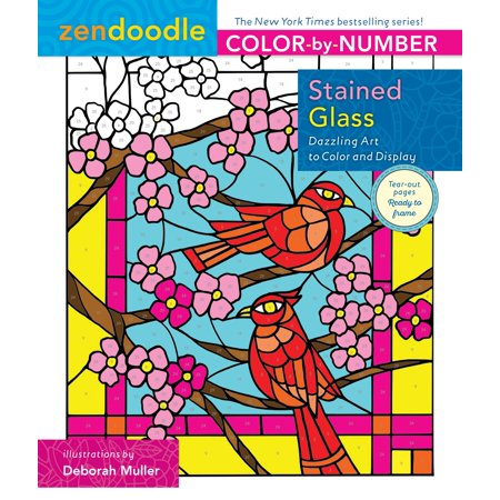 Zendoodle Color-by-Number: Stained Glass : Dazzling Art to Color and Display