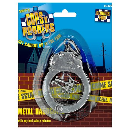 Metal Handcuffs Adult Costume Accessory - Metal Handcuffs