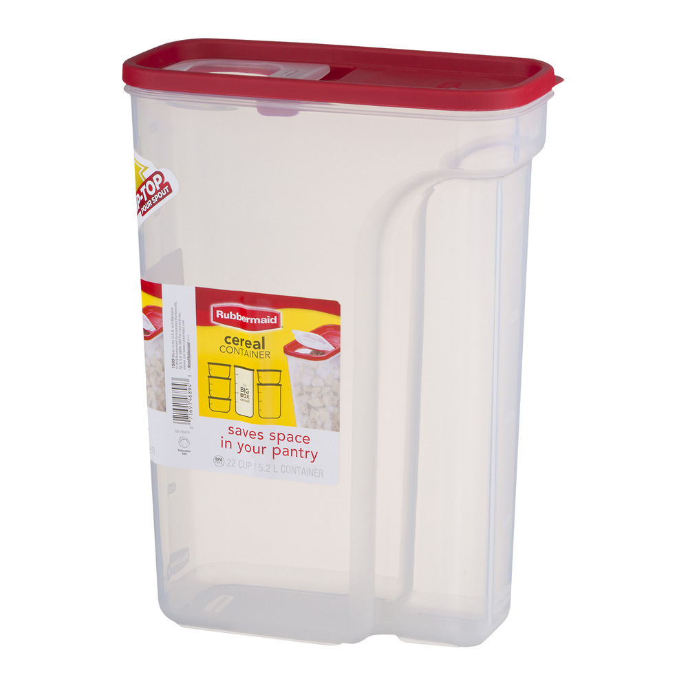 Rubbermaid Flip Top Cereal and Food Storage Container 22 Cup52