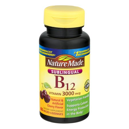 NM Sublingual Vitamin B12 3000 mcg.