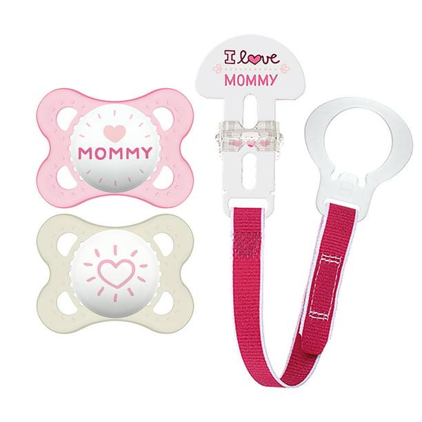Animal Design Collection Pacifier Clip Girl 1-Count MAM Pacifier Clips Baby Pacifier Clip