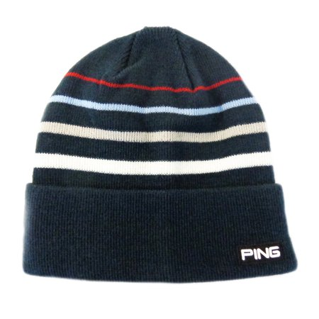 503ca16b630 NEW Ping Knit Coast Roll Navy White Red Beanie Golf Toboggan - Walmart.com