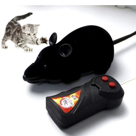 VBESTLIFE Wireless Control RC Electronic Rat Mouse Mice Toy For Cat Puppy Xmas Gift ()