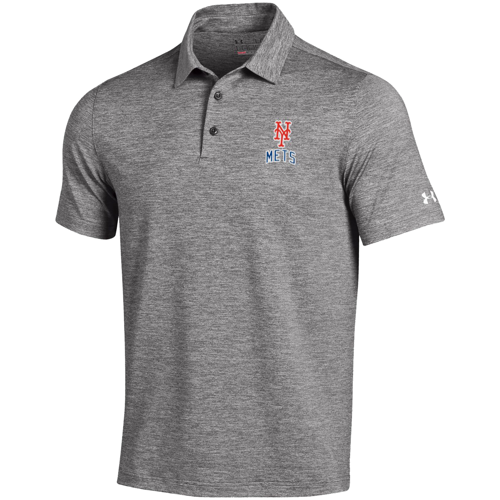 Men's Under Armour Gray New York Mets Elevated Heather Performance Polo