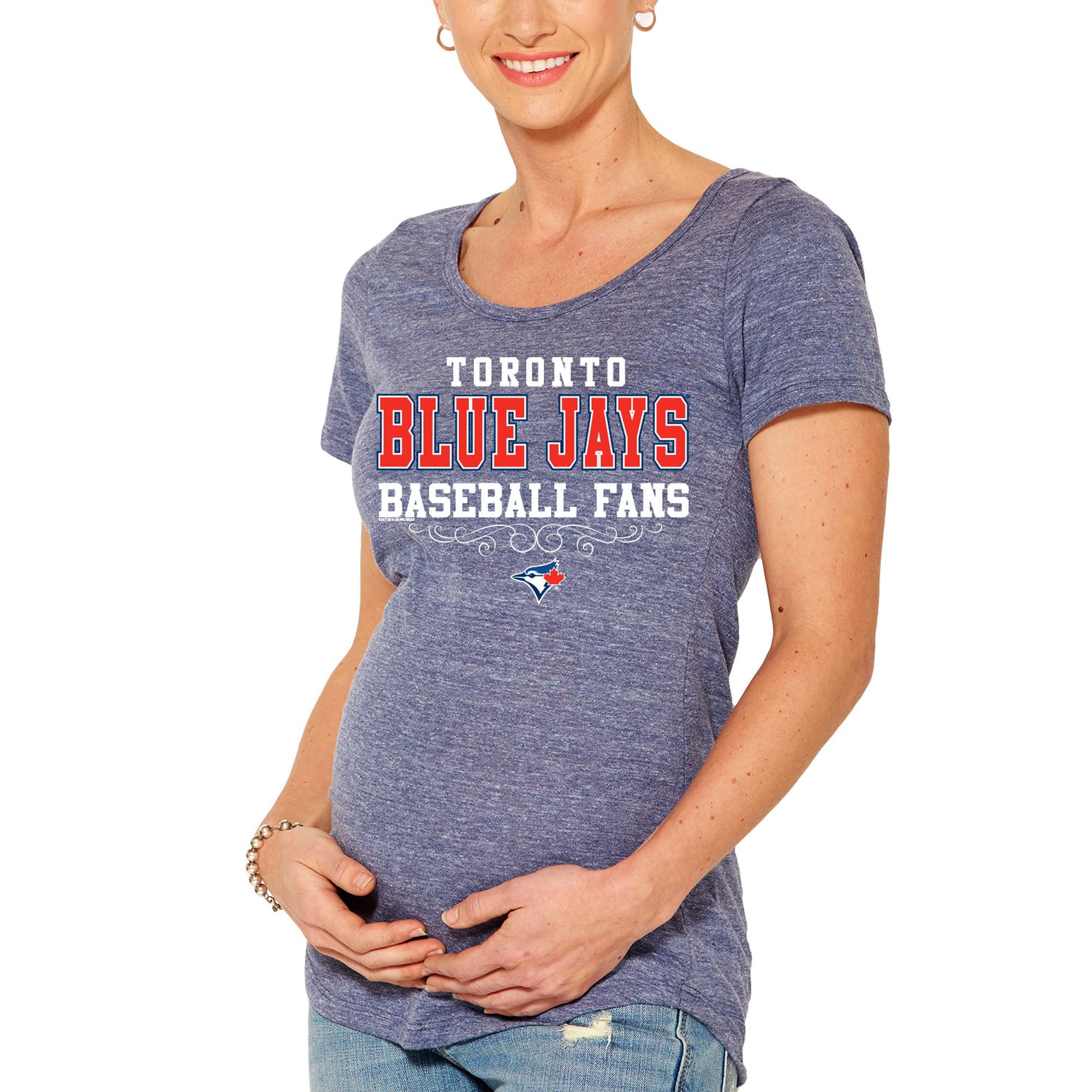 Toronto Blue Jays Soft As A Grape Women's Fans Tri-Blend Maternity T-Shirt - Royal