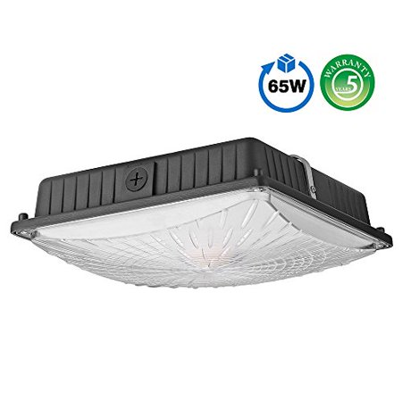 Hps Ceiling Fixture (1000LED LED Canopy Lights Ceiling Fixtures 65W 8, 125LM Daylight 5000K 250W HID/HPS Replacement Waterproof IP65 Gas station Garage Light UL DLC)