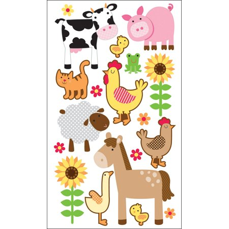 Sparkler Classic Stickers-Farm Animals