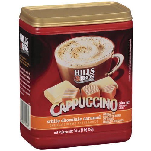 Hills Bros. White Chocolate Caramel Cappuccino Drink Mix, 16 oz