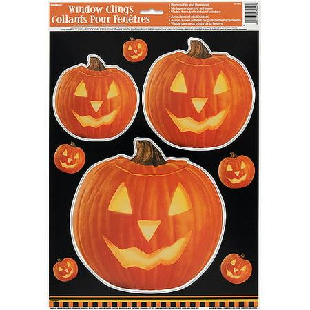 Pumpkin Glow Halloween Window Cling Sheet, 1ct - Best Halloween Pumpkins To Grow