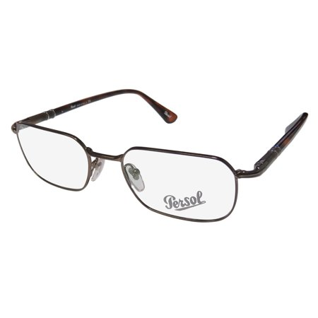 New Persol 2431-V Mens Designer Full-Rim Shiny Brown / Havana Ultimate Comfort Brand Name Hot Frame Demo Lenses 51-18-145 Spring Hinges Eyeglasses/Eyeglass (Persol Reading Glasses)