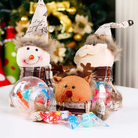 Heepo Christmas Santa Claus Snowman Candy Container Jar Box Holiday Decoration Gift (Who Created Santa Claus)