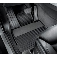 Genuine OE BMW Rubber Floor Mats With Carpeted Heel Pad 51-47-2-231-955