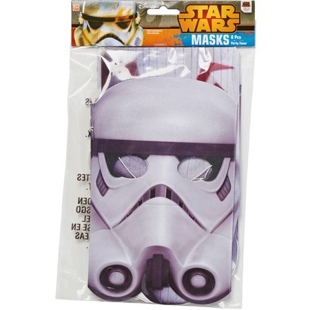 Star Wars Rebels Masks, 8 Count, Party Supplies
