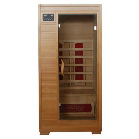 BlueWave Buena Vista-Hemlock 1 Person FAR Infrared Sauna With Ceramic Heaters
