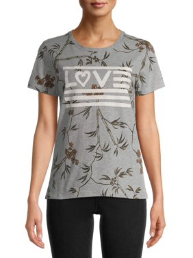 EV1 from Ellen DeGeneres Botanical Love Flag Tee Women's