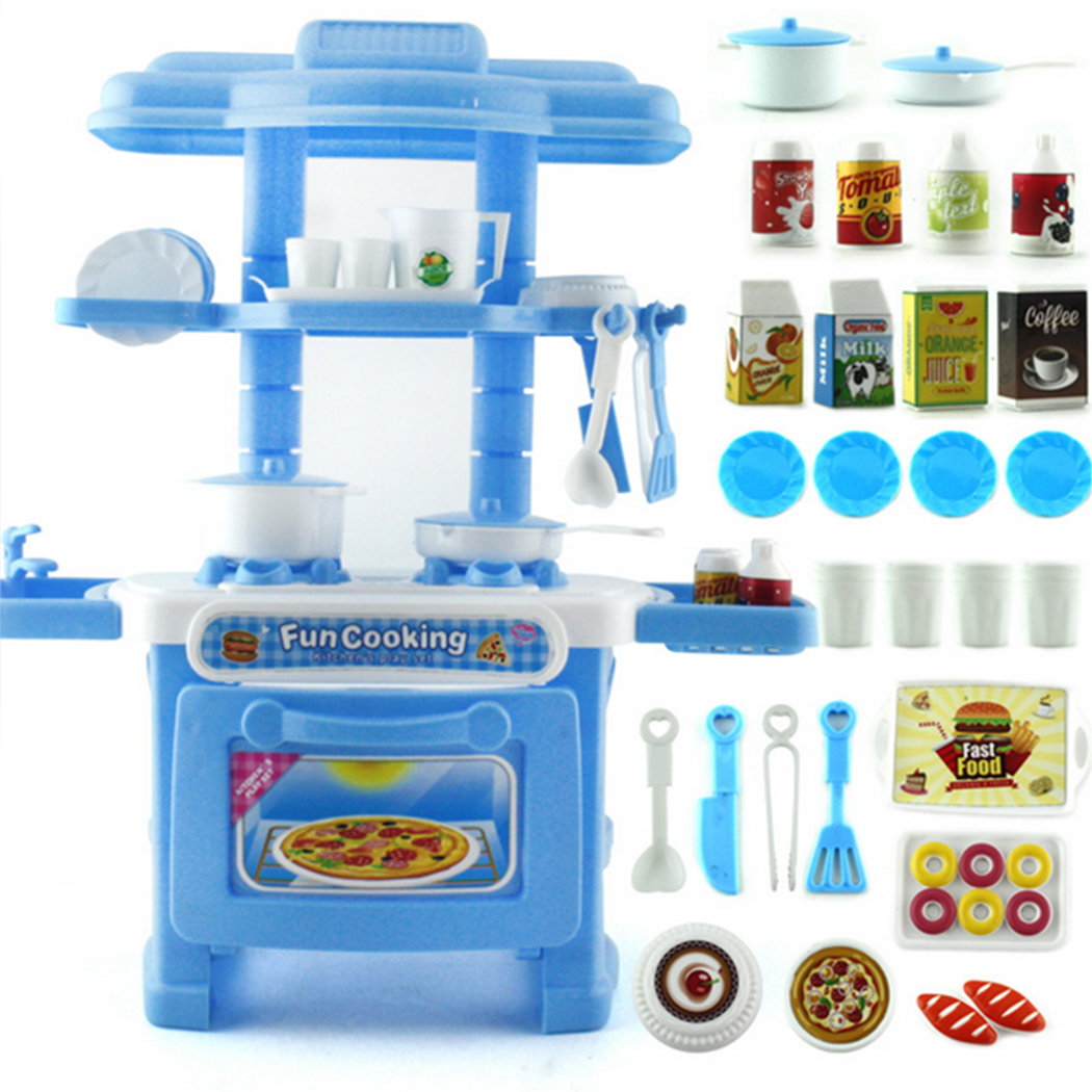 Outgeek 32Pcs Children Kitchen Toy Creative Cute Kitchen Pretend Play  Cooking Toy Set Educational Intelligence Toys