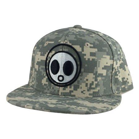 CapRobot Digital Woodland Camo Black Font Snapback Hat Cap