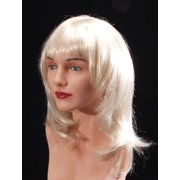 Star Power Classy Woman Lady Straight Mermaid Costume Wig, Blonde, One Size