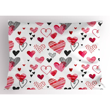 Valentine Pillow Sham Different Types Of Heart Shapes Romance In Magnificent Types Of Decorative Pillow Shapes