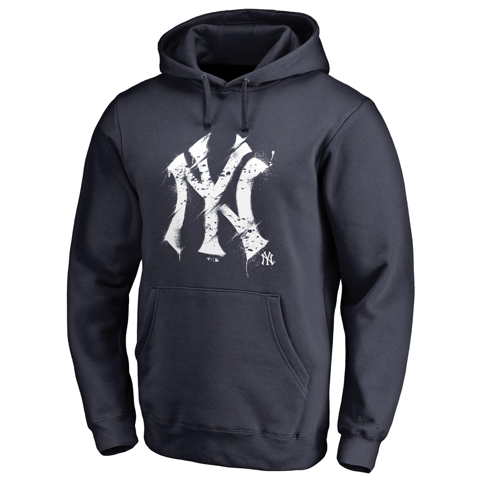 New York Yankees Fanatics Branded Splatter Logo Pullover Hoodie - Navy