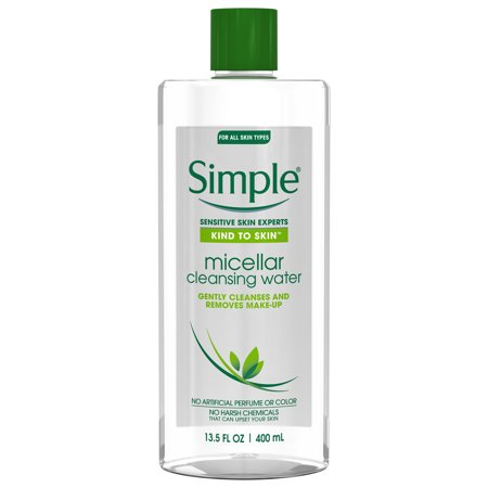 - Simple Kind to Skin Micellar Cleansing Water, 13.5 oz