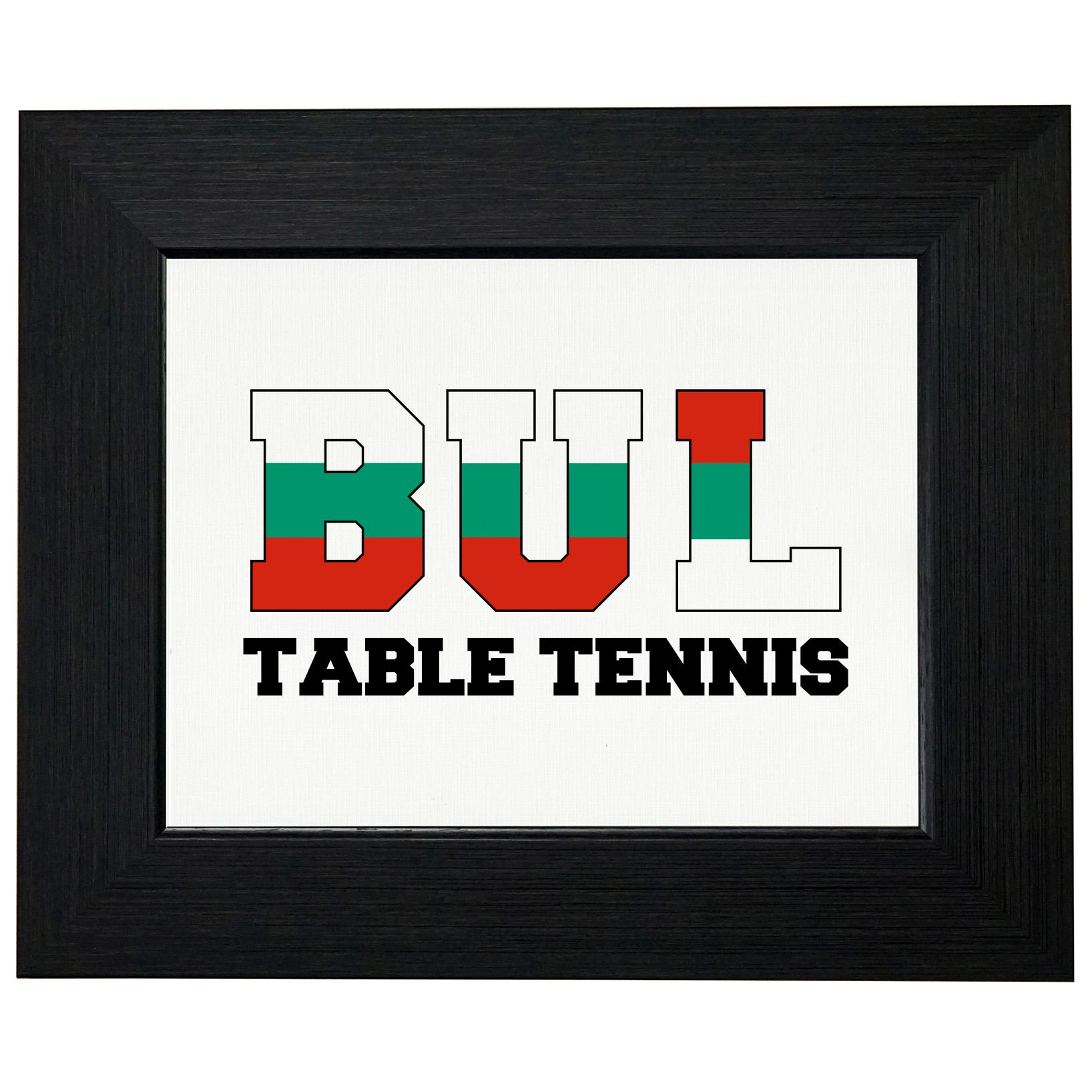 Bulgaria Ping Pong Olympic Games Rio Flag Framed Print Poster Wall or Desk Mount Options by Royal Prints