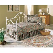 Fashion Bed Group Emma Metal Twin Daybed, Antique White